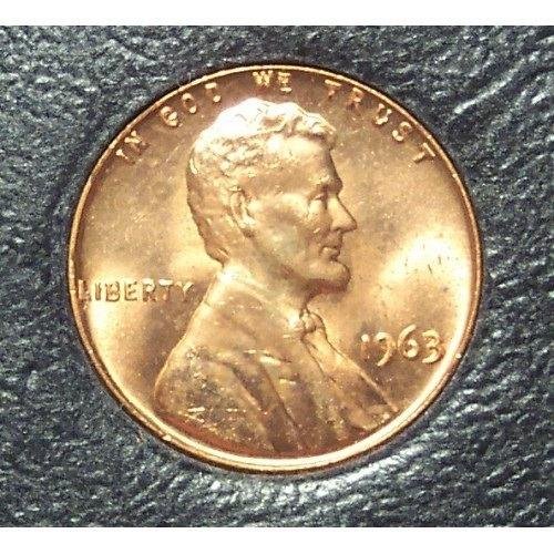 1963 Lincoln Memorial Penny MS65R #0313