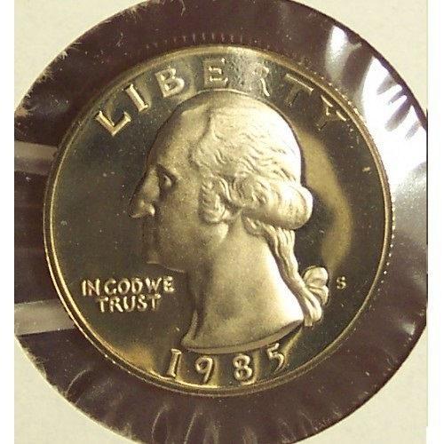 1985-S DCAM Proof Washington Quarter PF65 #0319