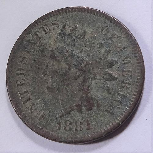 1881 Indian Head Cent / Penny - VG+ / Fine
