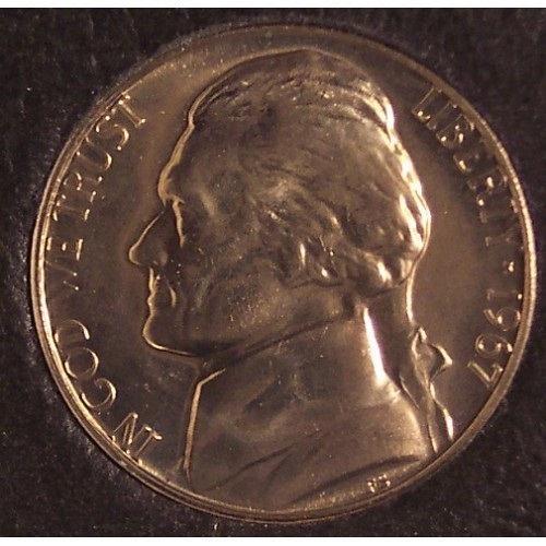 1967 Proof Like SMS Jefferson Nickel BU #0324