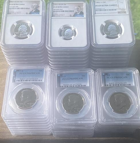 lot of 5 - random pick - PCGS - NGC - ANACS - high graded coins