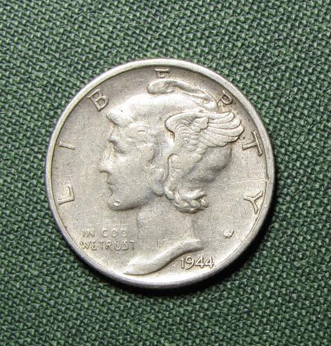 1944S Silver Mercury Dime