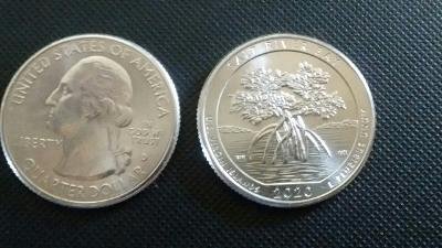 2020 D & P Salt River Bay America The Beautiful Quarter. From Bank Roll