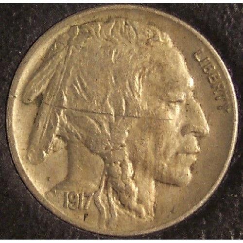 1917 Buffalo Nickel AU Details #0328