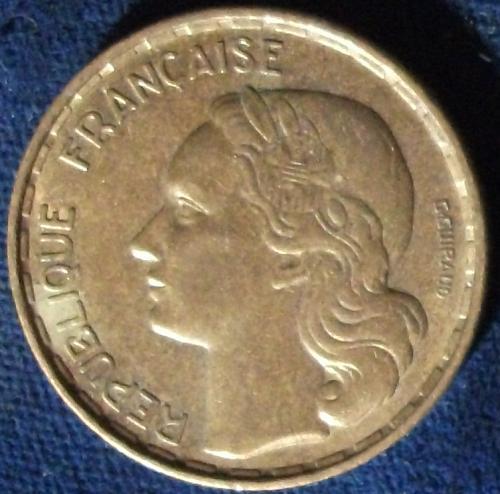 1953B France 50 Francs VF+
