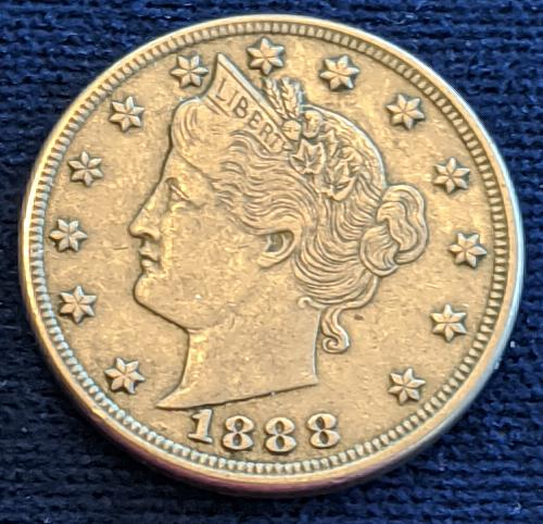 1888 XF45 LIBERTY HEAD NICKEL