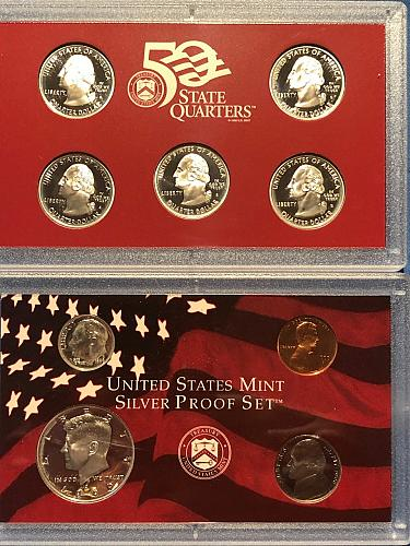 Proof Set; U.S. Mint Silver 1999