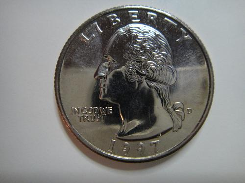 1997-D Washington Quarter MS-64 (Near Gem) Literally Just Misses GEM+!