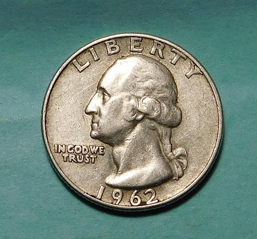1962 D Washington Quarter Dollar,