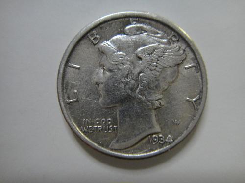 1934 Mercury Dime Extra Fine-40