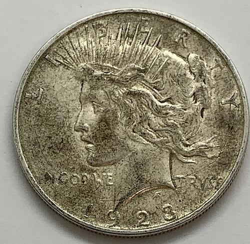 1923 D Peace Dollar - VAM 1AY - Die Breaks