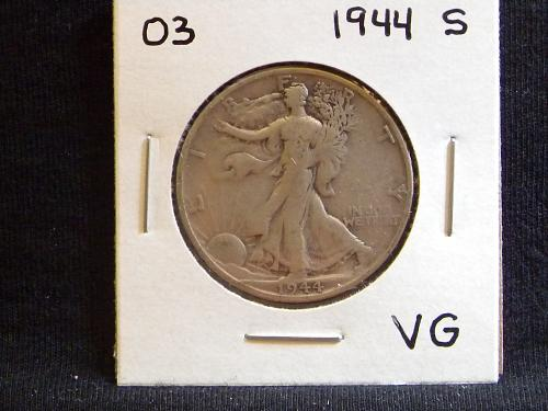 1944 S Walking Liberty Half Dollar