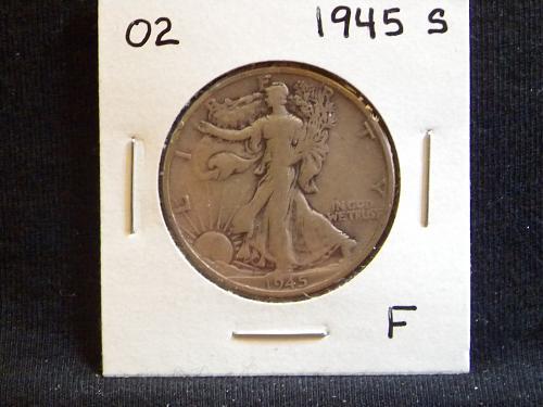 1945 S Walking Liberty Half Dollar