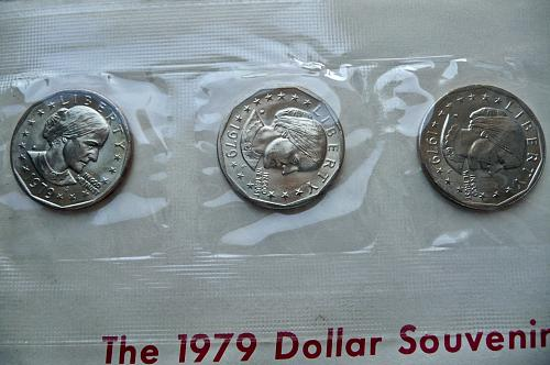 1979 P, D, S.  Susan B Anthony Dollars