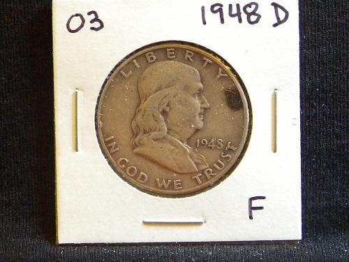 1948 D Franklin Half Dollar