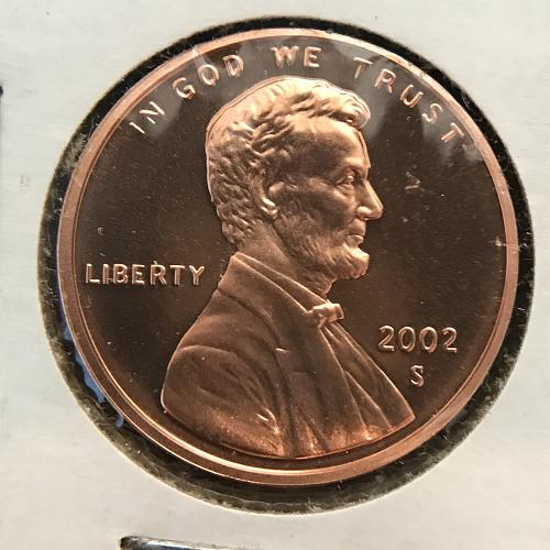 2002 S Proof Lincoln Cent