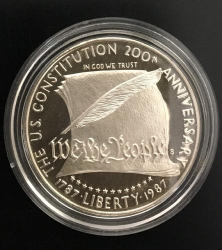 $1.00  US Constitution Coin Silver Proof