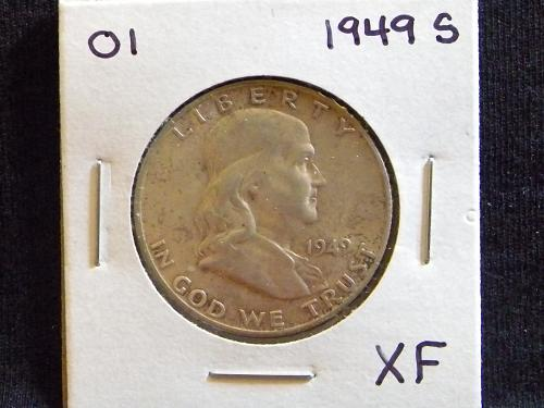 1949 S Franklin Half Dollar