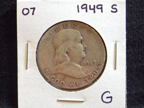 1949 S Franklin Half Dollar