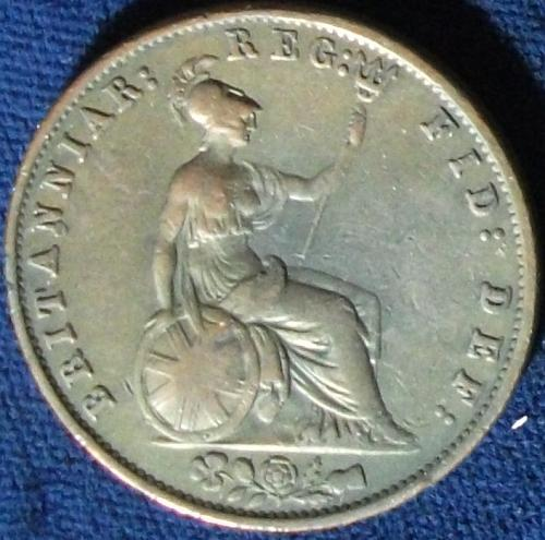 1853 Great Britain Halfpenny Fine #2