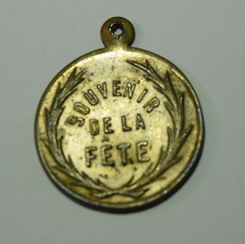 French Vintage Medal - Souvenir de la Fête
