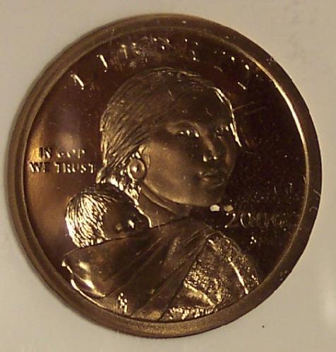 2000-S Proof Sacagawea $1 NGC PF 69 Ultra Cameo #G033