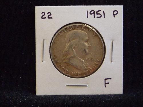 1951 P Franklin Half Dollar