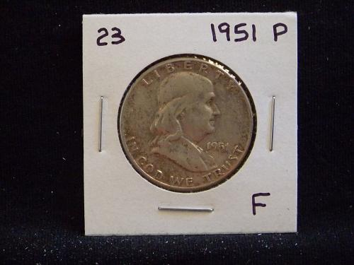 1951 P Franklin Half Dollar