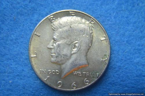 1966 P Kennedy Half Dollars 40% Silver