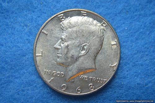 1968 D Kennedy Half Dollars 40% Silver