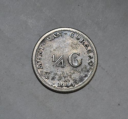 Curacao  1/4 Gulden 1944