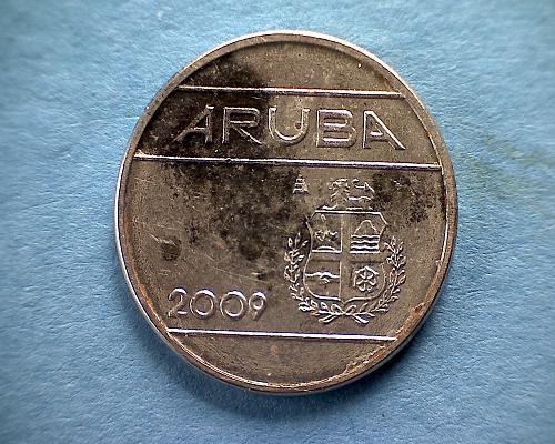 2009 u ARUBA TWENTY-FIVE CENTS