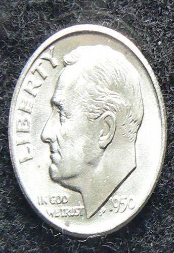 1950 S Roosevelt Dime
