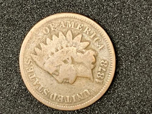 1878 Indian Head Cent, price reduced 1/25/2021