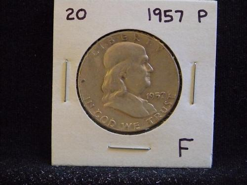 1957 P Franklin Half Dollar