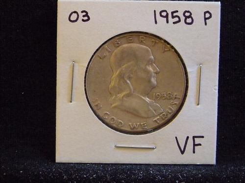 1958 P Franklin Half Dollar