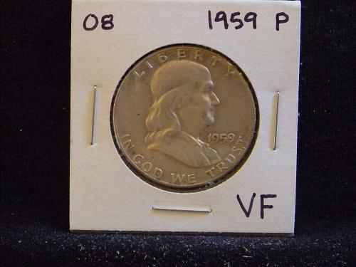 1959 P Franklin Half Dollar