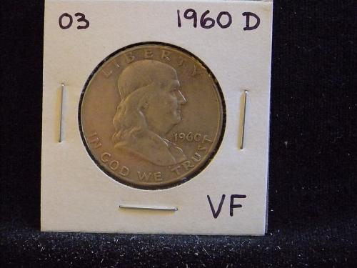 1960 D Franklin Half Dollar