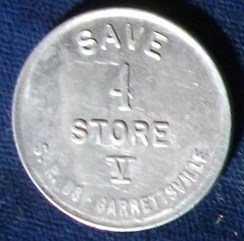 Save 4 Store V, Worth 4 Cents in Merchandise, Garretsville, Ohio