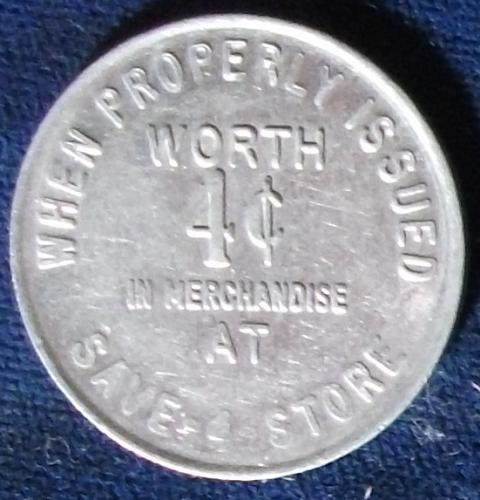 Save 4 Store V, Worth 4 Cents in Merchandise, Garretsville, Ohio