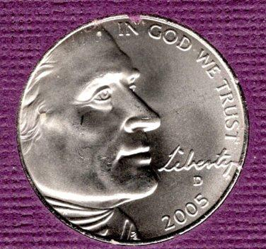 2005 D Jefferson Nickels: American Bison - #3