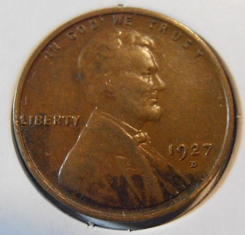 1927 D Lincoln Cent - Wheat penny (27DEW4)