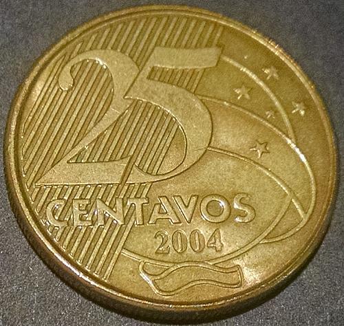 Brazil 25 Centavos 2004