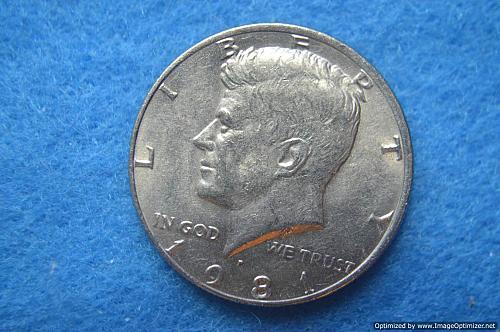 1981 P Kennedy Half Dollars