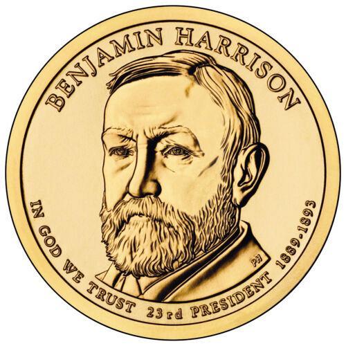 2012  D BENJAMIN HARRISON GOLDEN DOLLAR