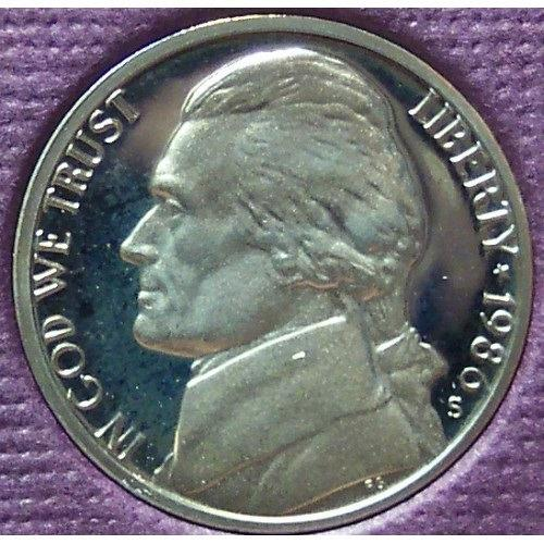 1986-S DCAM Proof Jefferson Nickel PF65 #0385