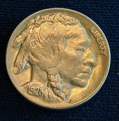 1928D CHOICE BU BUFFALO NICKEL