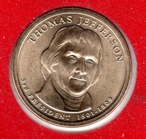 2007 P Presidential Dollars: Thomas Jefferson -#3