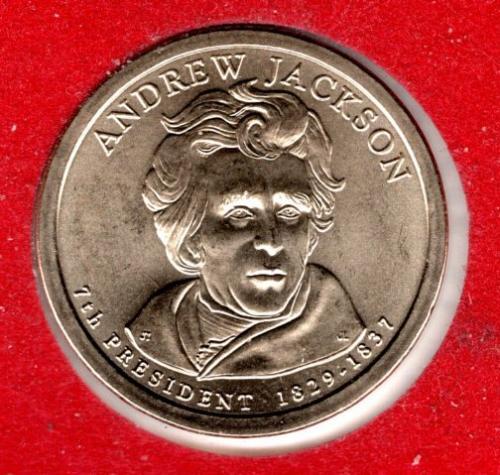 2008 D Presidential Dollars: Andrew Jackson -#4