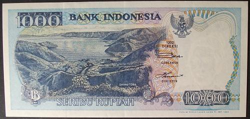 Indonesia P129c 1000 Rupiah AU